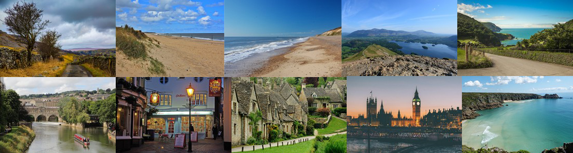 Top 10 English Hotel locations